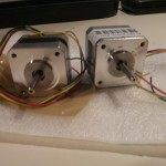 12V 350mAh per phase stepper motors