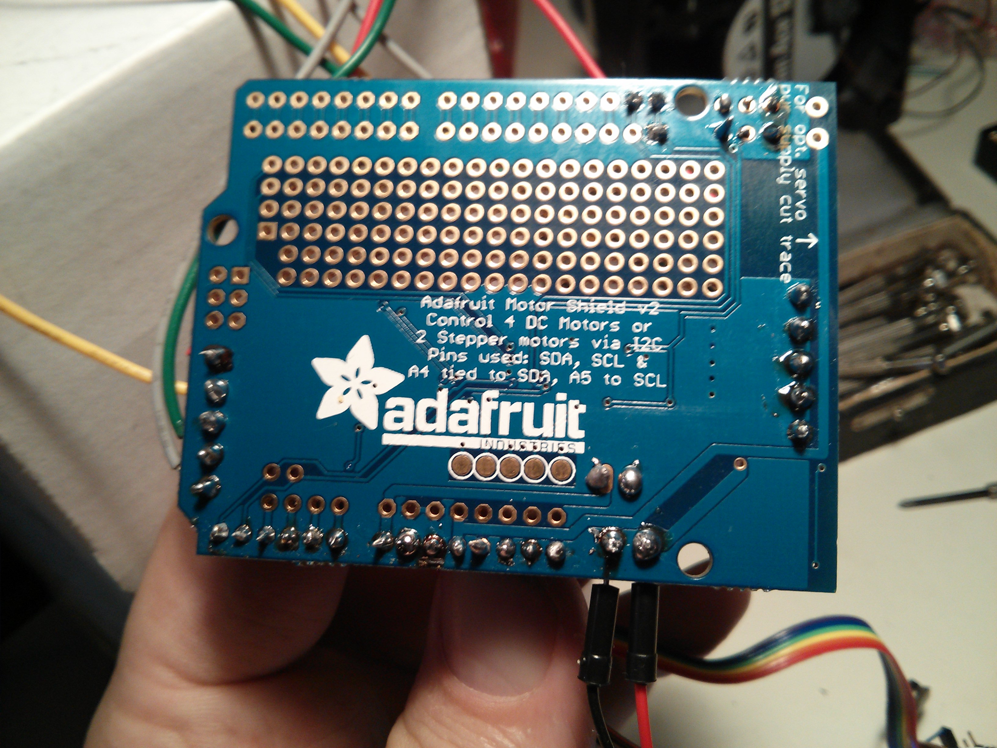 Arduino Micro and Adafruit Motor Shield V2 | defendtheplanet net