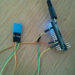DHT11connected to the Arduino Micro