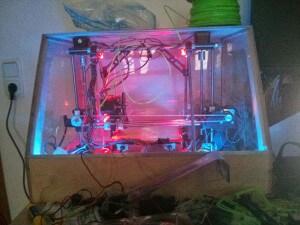 3D Printer case in the dark - 3D Printer case in the dark - front 4