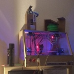 2015-09-07 Current 3D Printer location on top of a IKEA shelf