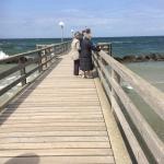 May Baltic Sea Trip - Wustrow - Sea bridge fishing people