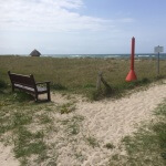 May Baltic Sea Trip - Wustrow dune and bench