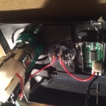 T4 . Voltmeter adjustment - wiring back fixed with hot glue