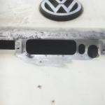 VW T4 Project – War against Rust – Battle II: trunk - sanded trunk outside
