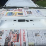VW T4 Project – War against Rust – Battle II: trunk - after spraying