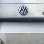 VW T4 Project – War against Rust – Battle II: trunk - applied fairing