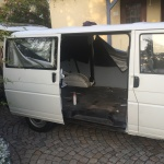 VW T4 Project – Interior construction - Removal of all Seats - right side