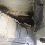 VW T4 Project – War against Rust – Battle VI - Interioir - couldn't manage to fix the hole in the right back properly due to time restrictions