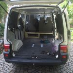 VW T4 Project – Interior construction – Realization - first wood construction assembled