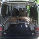 VW T4 Project – Interior construction – Realization - first beddinge test