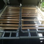 VW T4 Project – Interior construction – Realization - beddinge missing some pieces