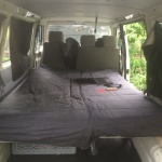 VW T4 Project – Interior construction – Realization - back with full bed