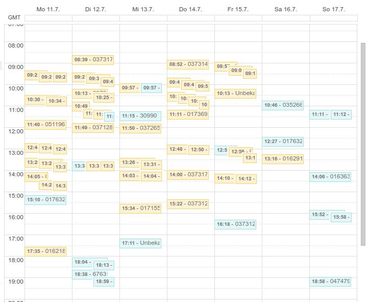FritzBox Python Class - calendar view