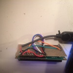 ESP8266 Liquid Display:  from behind, shortend prototyping board